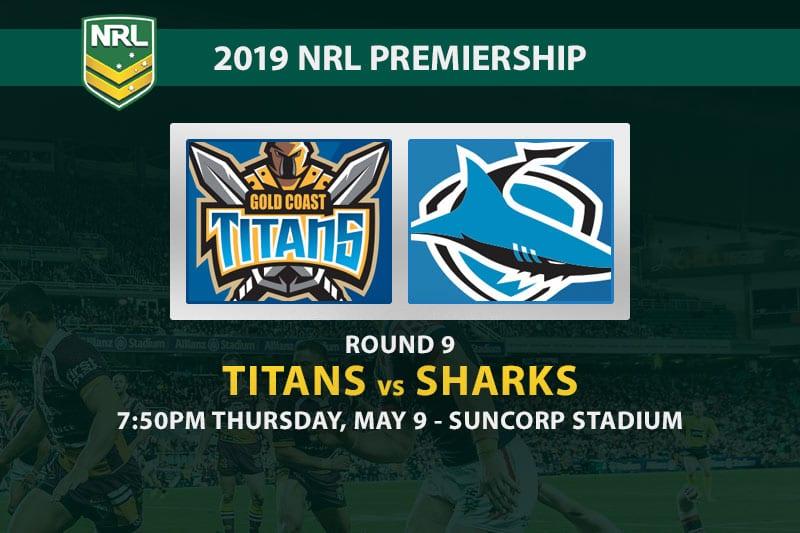 Titans vs Sharks 2019 NRL betting tips