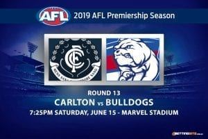 AFL Round 13 Blues vs Bulldogs betting tips