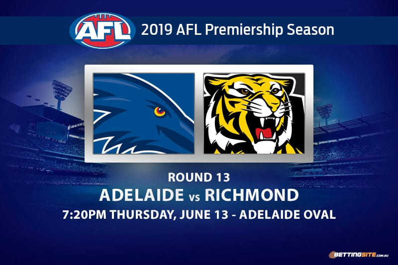 Adelaide vs Richmond AFL Round 13 betting tips and predictions