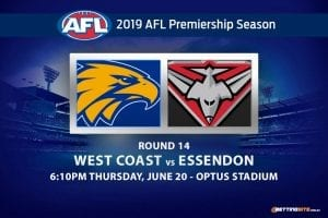 AFL Round 14 Eagles vs Bombers betting tips