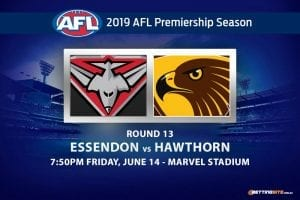 AFL Round 13 Essendon vs Hawthorn betting tips