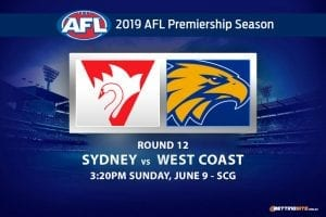 AFL 2019 Swans vs Eagles betting tips