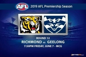 2019 AFL Round 12 Richmond vs Geelong betting tips