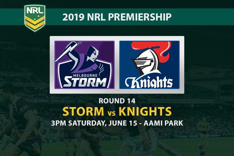 NRL Round 14 Storm vs Knights betting tips
