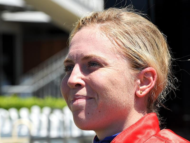 Tiffani Brooker rode Misery to win at the Sunshine Coast.