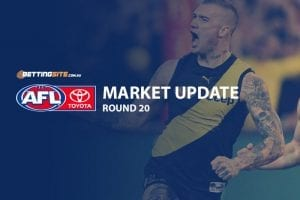 AFL Round 20 odds and betting news