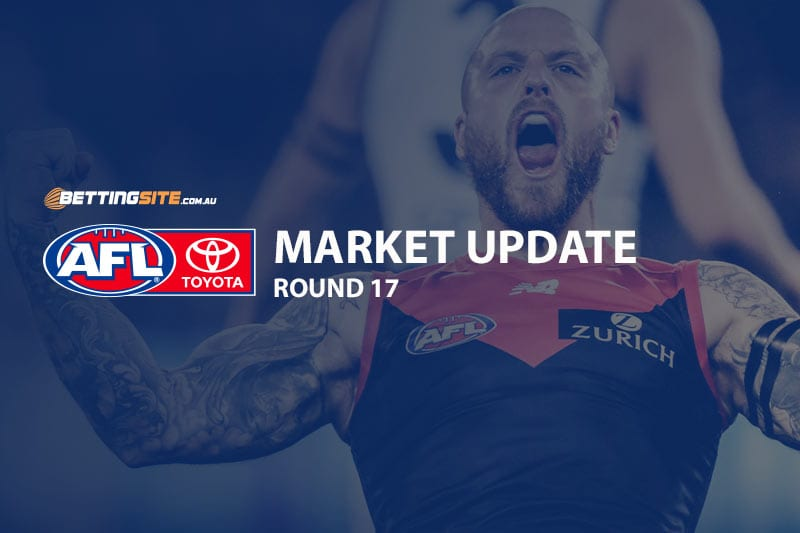 AFL Round 17 odds and betting news