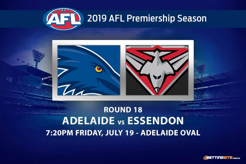 Crows vs Bombers AFL Round 18 betting tips