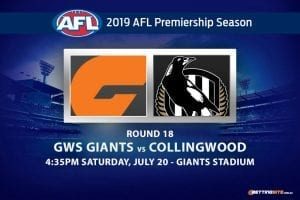 Giants vs Magpies AFL Round 18 betting tips