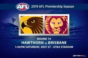 Hawks vs Lions AFL Round 19 betting tips