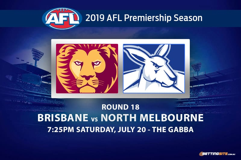 Lions vs Kangaroos AFL Round 18 betting tips