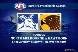 Roos vs Hawks AFL Round 20 betting tips