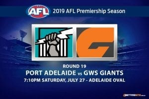 Power vs Giants AFL Round 19 odds