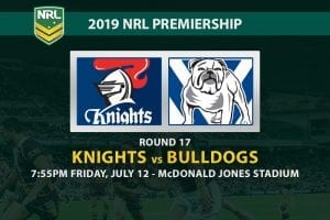 Knights vs Bulldogs NRL Round 17 betting tips