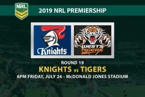 Knights vs Tigers NRL Round 19 betting tips