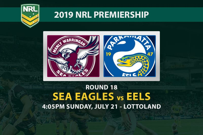 Sea Eagles vs Eels NRL Round 18 betting tips