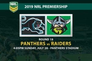 Panthers vs Raiders NRL Round 19 odds