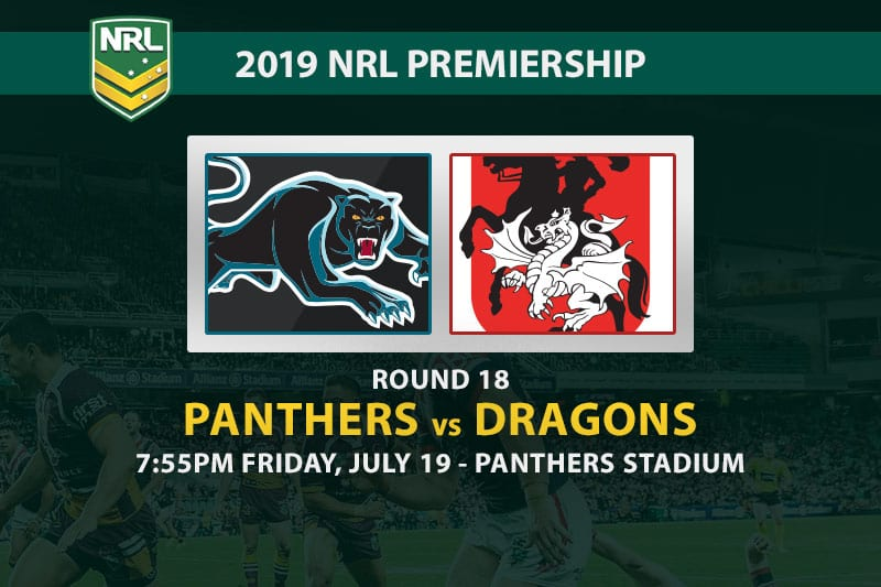Panthers vs Dragons NRL Round 18 betting tips