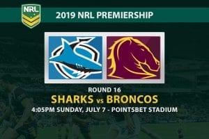 Sharks vs Broncos NRL 2019 odds