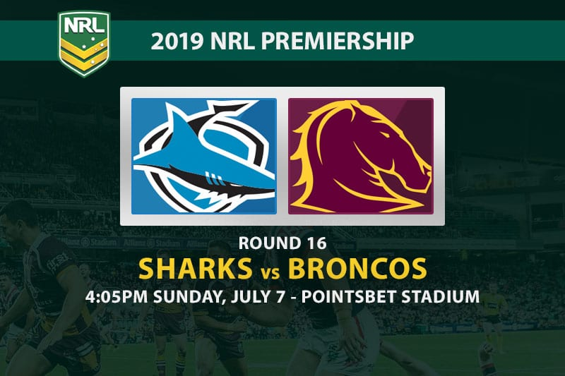 Sharks vs Broncos NRL 2019 odds