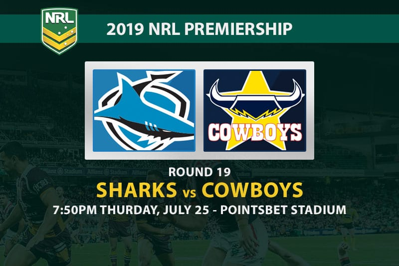 Sharks vs Cowboys NRL Round 19
