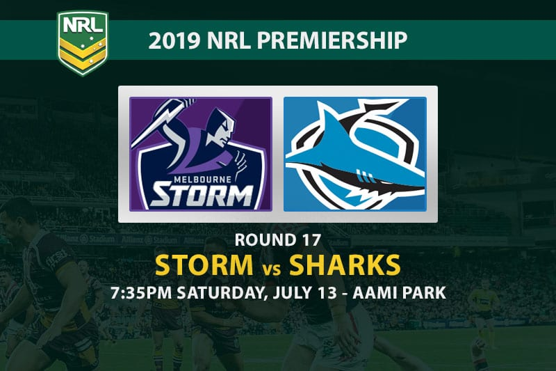 Storm vs Sharks NRL Round 17 betting tips