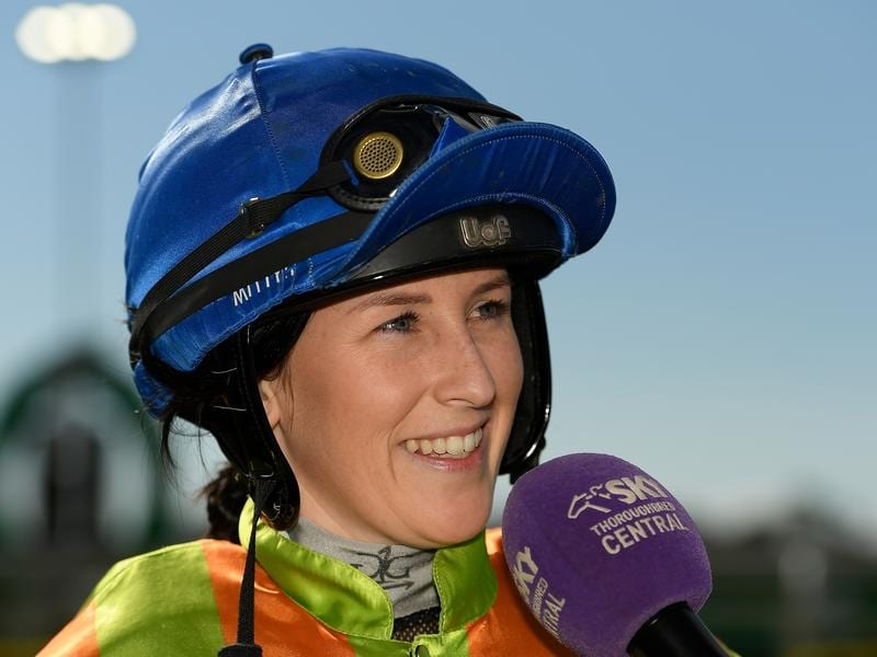 Rikki Palmer after winning on Shauquin.