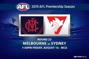 Demons vs Swans AFL Round 22 betting tips