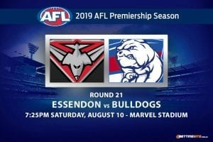 Bombers vs Bulldogs AFL Round 21 odds