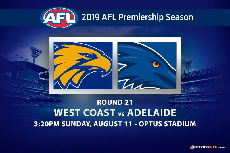 Eagles vs Crows AFL Round 21 betting tips