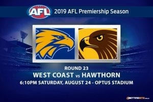 Eagles vs Hawks AFL Round 23 betting tips