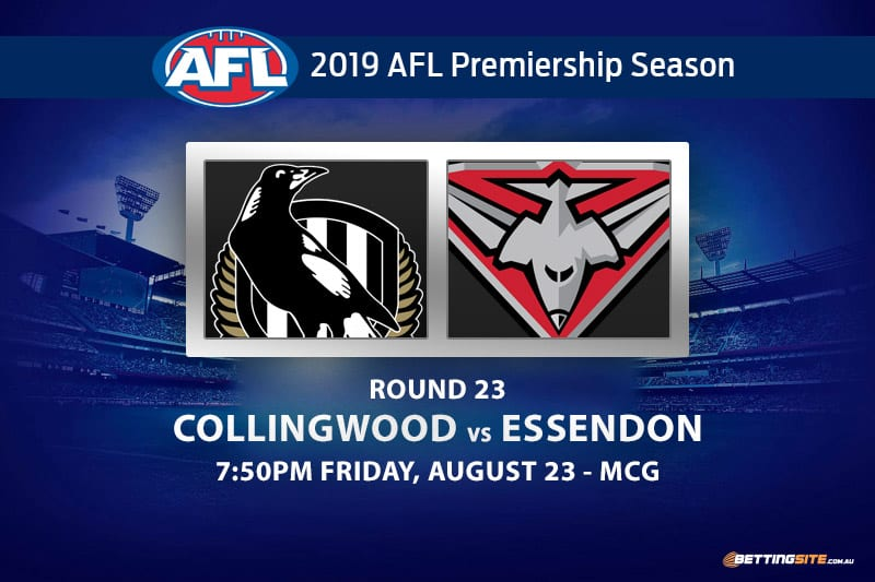 Magpies vs Bombers AFL Round 23 betting tips