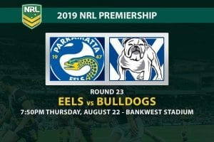 Eels vs Bulldogs NRL Round 23 betting tips