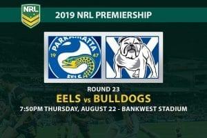 Eels vs Bulldogs NRL Round 23 betting tips