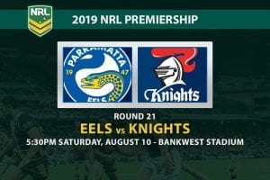 Eels vs Knights NRL Round 21 betting tips