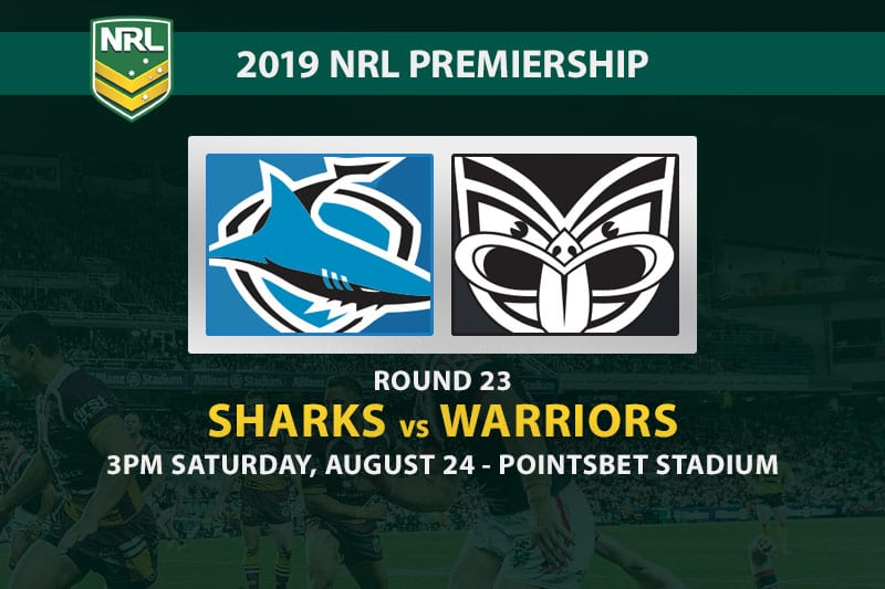 Sharks vs Warriors NRL Round 23 betting