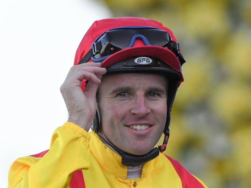 Tommy Berry takes the George Main Stakes ride on Danzdanzdance.