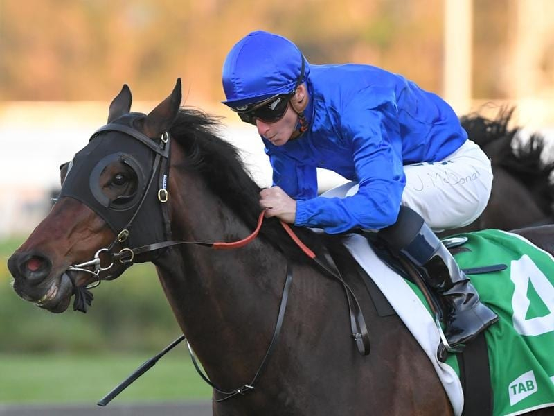 James McDonald rides Ranier to victory in race 9 at Rosehill