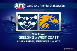 AFL finals Geelong vs West Coast odds