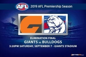 Giants vs Bulldogs AFL finals betting