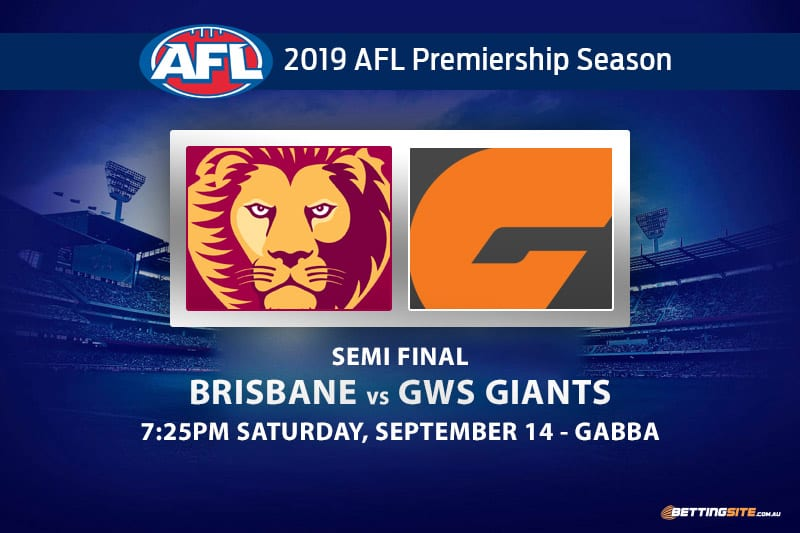 Lions vs Giants AFL finals odds