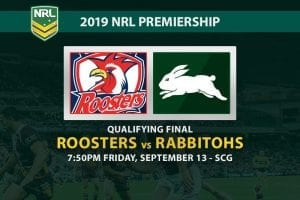 Roosters vs Rabbitohs betting odds
