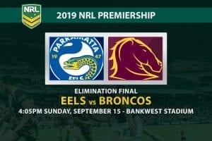 Parramatta Eels vs Brisbane Broncos NRL Finals 2019