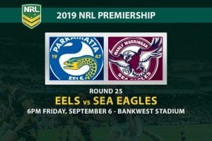 Eels vs Sea Eagles NRL 2019 odds