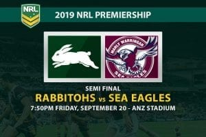 Rabbitohs vs Sea Eagles betting tips
