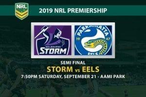 Storm vs Eels NRL finals betting