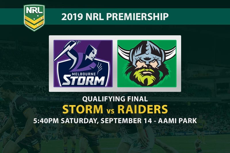 Storm vs Raiders NRL finals betting