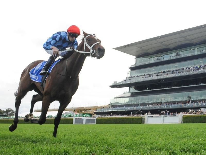 Funstar wins the Flight Stakes at Randwick.