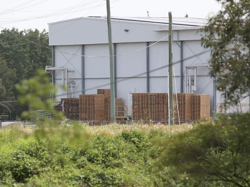 A large building on the Meramist Abattoir site in Caboolture.