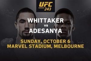 Robert Whittaker vs Israel Adesanya UFC 243